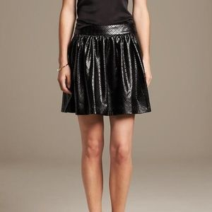 NWT Banana Republic Laser Cut Vegan Leather Skirt